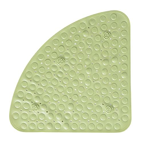 BUYGOO Alfombrilla de Ducha Antideslizante para Baño 54 x 54 cm Diseño de Triángulo, con Agujero de Drenaje para Ducha o Bañera, PVC, Antideslizante Estera de Bañera