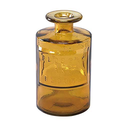 SPICE OF LIFE(スパイス) 花瓶 リサイクル ガラス フラワーベース VALENCIA アンバー 直径9cm 高さ16cm スペインガラス VGGN1070AM