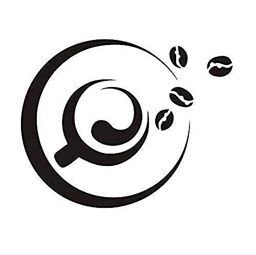 Etiqueta engomada impermeable del azulejo de la cocina Etiqueta de la pared Una taza de café y grano de café Etiqueta de la pared Ventana de vidrio Vinilo Art Deco 73 * 58 cm