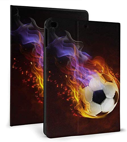 Soccer Ball fire PU Leather Smart Case Auto Sleep/Wake Feature for iPad Air 1/2 9.7' Case