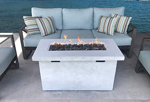Cast Concrete Propane/Natural Gas Fire Pit Table (Natural Concrete, Size: 24' H x 42' W x 20')