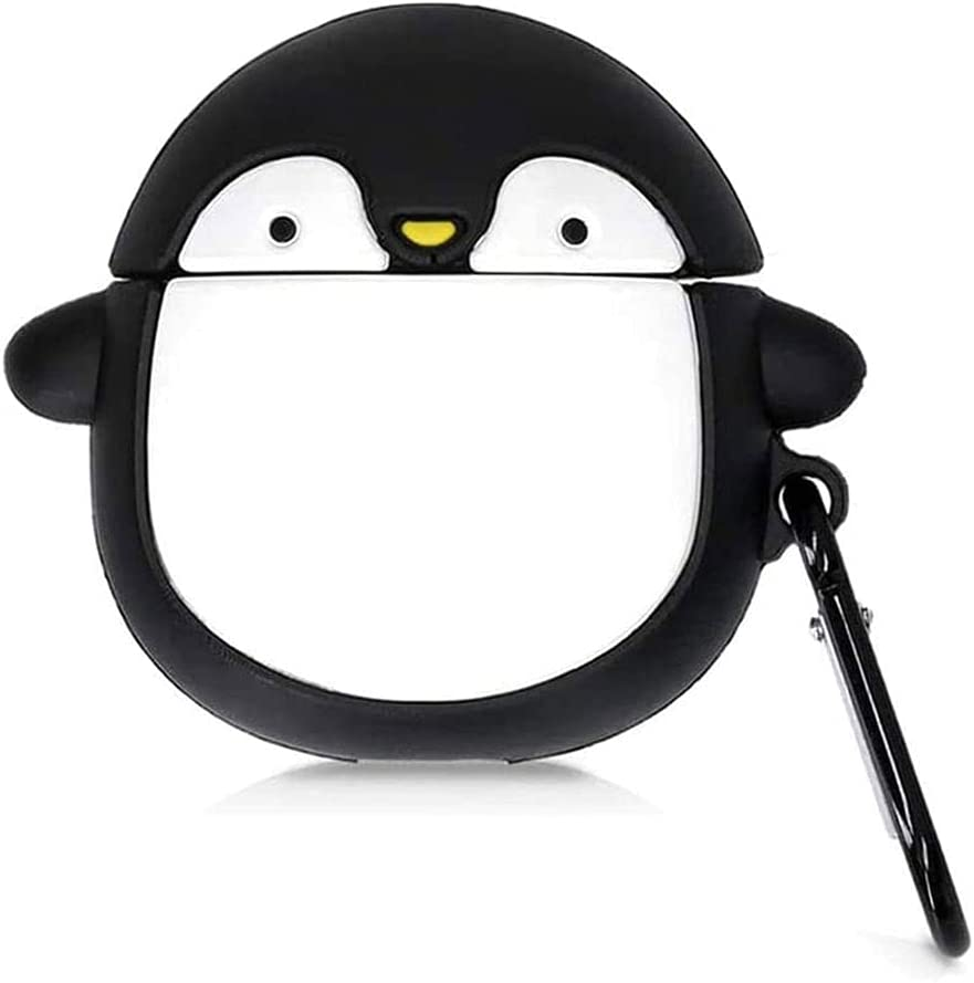 Brifu Funda Protectora de Silicona Compatible con Auriculares Xiaomi Mi True Wireless Earphone 2 / Mi Airdots Pro 2,Funda Protectora a Prueba de Golpes,Lindo patrón 3D Pingüino