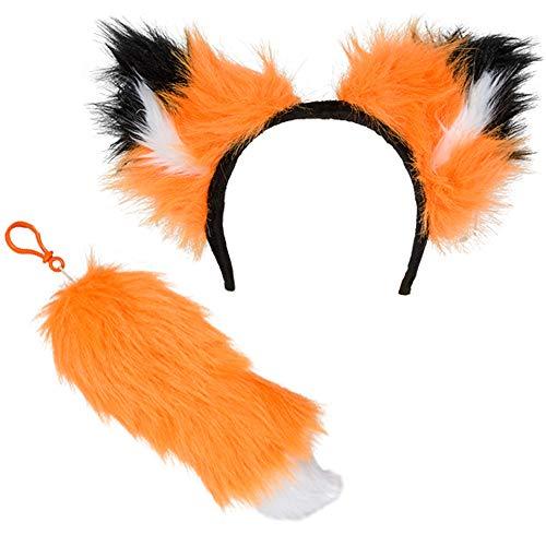 Rhode Island Novelty 12 Inch Fox Ear and Tail Set