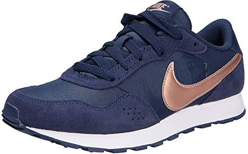 Nike Md Valiant (Gs) Sneaker, Midnight Navy/MTLC Red Bronze, 35.5 EU