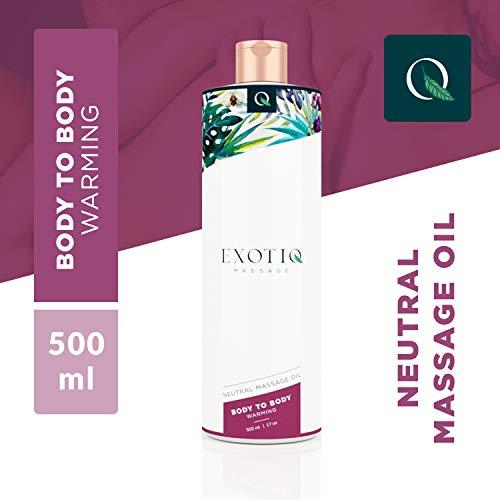 Exotiq Warming Body To Body Oil (500ml - 17oz) - Mit Wärmendem Effekt Für Eine Massage - Perfekt Für Eine Heiße Ölmassage - Lassen Sie Ihre Muskeln Schneller Entspannen; Sanft, Langanhaltend