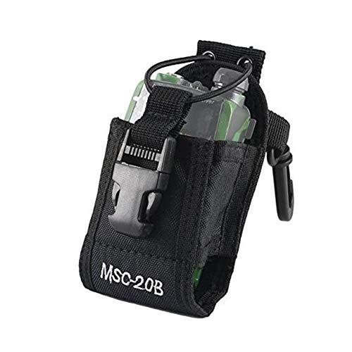 Caso de Radio de Radio Universal del sostenedor Universal walkie Talkie Accesorios Bolsa para Motorola MT500, MT1000, MTS2000 y Modelos similares, Duradero Negro