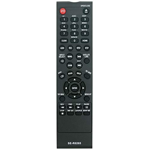SE-R0265 Replace Remote Applicable for Toshiba DVD Video Recorder D-R410 D-R410KU D-KR10 D-KR10KU D-KR40KU D-KR40 D-R400 D-R400KU D-R420 D-R420KU D-R430 D-R430KU DR410 DR410KU DKR10 DKR10KU DKR40KU