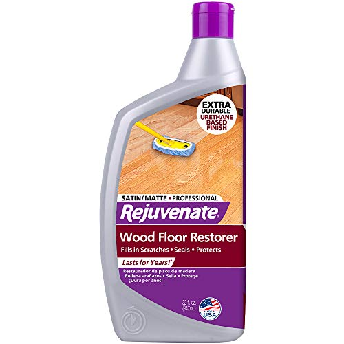 Rejuvenate Professional Wood Floor Restorer and Polish with Durable Finish Easy Mop On Application Satin Finish 32oz