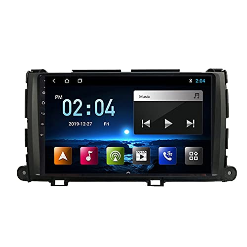 2 DIN Car Stereo 9 Pulgadas HD Pantalla Táctil Soporte Bluetooth/Navegación GPS/Cámara De Visión Trasera/1080P Video, para Toyota Sienna 2010-2014 Radio De Coche,Octa Core,4G WiFi 4+64