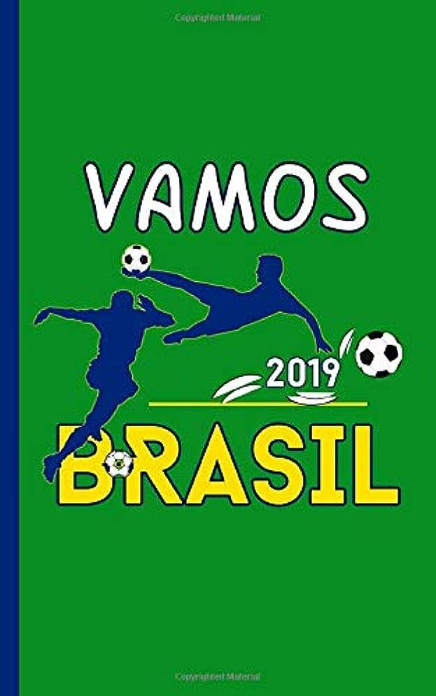 精通した責める悪いBrazil Vamos Brasil Soccer Journal - Notebook: Blank Writing Diary Planner Note Book, 100 Lined + 8 Blank Pages, Travel Size (Brazil Travel Gifts Vol 5)