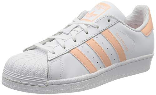 adidas Unisex-Kinder Superstar Sneaker, Weiß (Footwear White/Glow Pink/Footwear White 0), 36 EU
