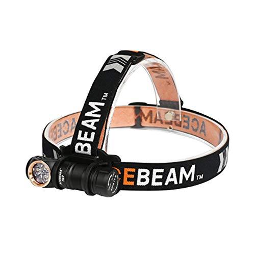 Acebeam Nichia 219C CRI - Linterna frontal LED H17 (1500 lúmenes, 158 metros de distancia de haz de alta reproducción cromática)