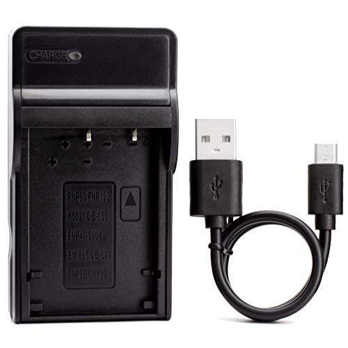 KLIC-5000 USB Cargador para Kodak EasyShare DX6490, DX7440, DX7590, DX7590 Zoom, DX7630, LS420, LS433, LS443, LS633, LS743, LS753, One Series, P712, P850, P880, Z730, Z7590, Z760 Cámara y Más