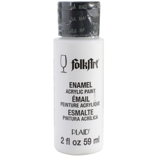 FolkArt Enamel Glass & Ceramic Paint in Assorted Colors (2 oz), 4001, Wicker White