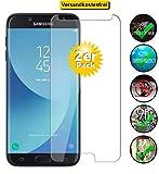 Smartphone-Equipment [2er Pack] Panzerglas für Samsung Galaxy J7 2017 Echt-Hartglas 9H, Bildschirmschutz Panzerfolie Glasfolie Schutzfolie Glas Folie Bildschirm Schutz