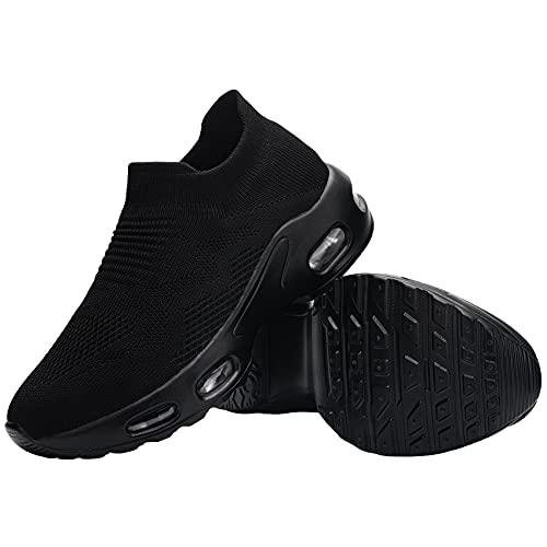 FENLERN Women's Steel Toe Shoes Ladies Lightweight Slip On...