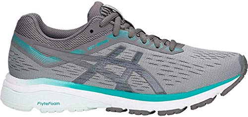 ASICS Women's GT-1000 7 (D) Running Shoes, 8.5W, Stone Grey/Carbon