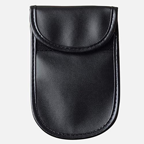ZengBuks Teléfono Celular móvil Celular Coche Sin Llave Bloqueo de Bloqueo de señal de RF Bolsa de Coche Fob RFID Jammer Shield Pouch Estuche Anti radiación - Negro