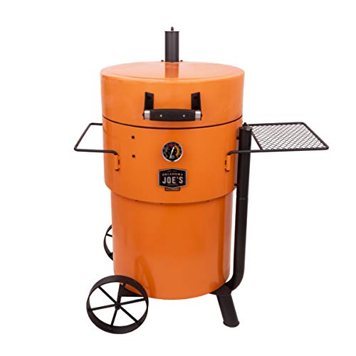 Find Bargain Oklahoma Joe's 19202100 Bronco Pro Drum Smoker, Orange
