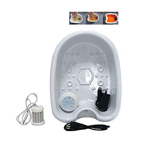 YC Ionic Detox Foot Bath Machine SPA Ion Detox Foot Massage Bath Machine, Home Health SPA Machine Foot SPA Tub 1 Array Care Set con Lavabo de plástico