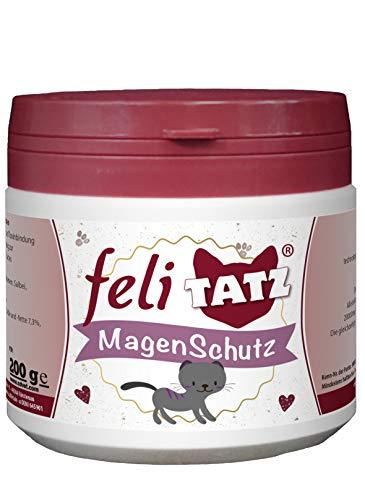 cdVet Naturprodukte feliTATZ Magenschutz 200 g - Katze - bindet Magensäure - Regulation des Säuren-Basen- Haushaltes - Schleimhautschutz - Magen- und Darmschleimhäute - physiologische Regeneration -