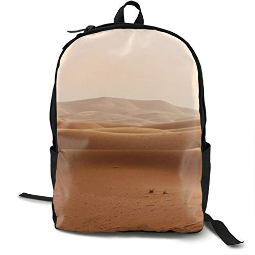 Lightweight Backpack Rucksack Foldable Ultralight Packable Backpack,Desert Morocco Dunes Sand Landscape Unisex Durable Handy Daypack for Travel & Outdoor Sports