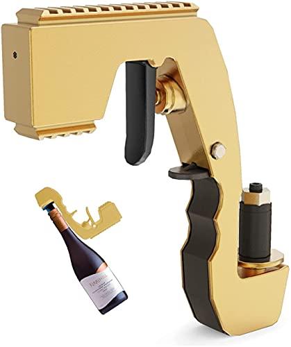 Pistola a spruzzo per champagne, iniettore di birra, versatore per bottiglie, pistola per champagne, cavatappi per bar e feste.