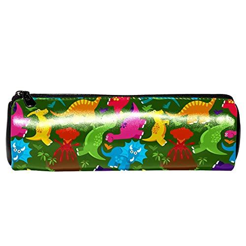 Estuche de lápices con diseño de dinosaurio, bolsa de almacenamiento, organizador de cosméticos para la escuela, adolescentes, niñas, niños, hombres y mujeres