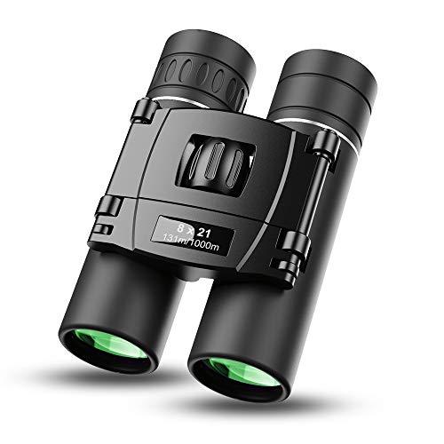 Apexel 8x21 Binoculares pequeños, compactos y livianos para conciertos, Teatro, ópera, Mini binoculares de Bolsillo, Lentes FMC para Viajes, Senderismo, observación de Aves para Adultos y niños