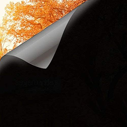 Modrad Fensterfolie Blickdicht Selbstklebend Spiegelfolie Fenster Verdunkelungsfolie Schwarz Klebefolie Fenster Folie für Badezimmer und Büro (60x200 cm)