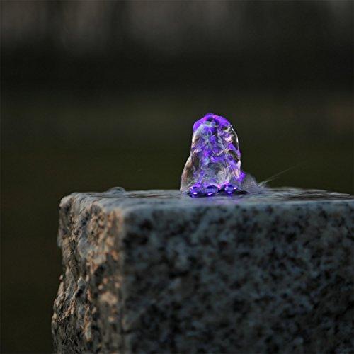 CLGarden LED Ring Beleuchtung lila violett für Springbrunnen Quellstein Stein
