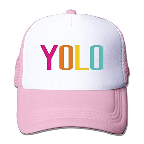 Trucker Motto You Only Live Once-YOLO Adjustable Mesh Back Baseball Cap