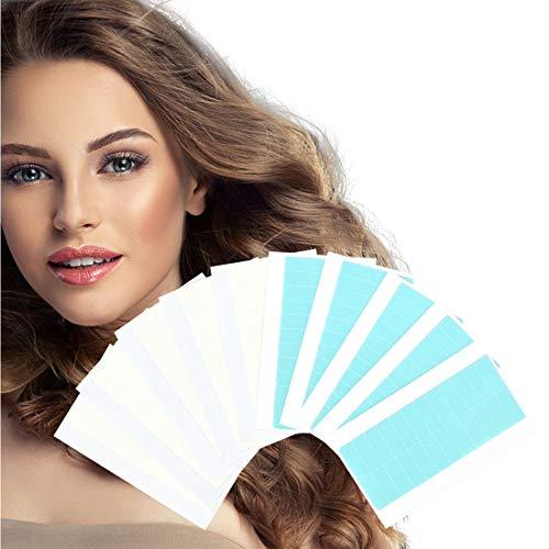 120 Stücke Haarverlängerung Ersatztapes - Klebestreifen Für Tape In Hair Extensions Hohe Klebekraft Klebedauer Haar Klebeband Für Haarverlängerungen (Blau+Weiss)