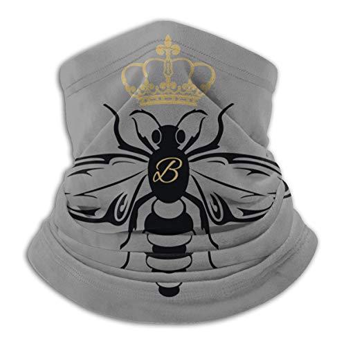 Queen Bee 1 Neck Gaiter Warmer Balaclava Windproof Mask Dust-Free UV Face Mask Scarf for Men Women Black