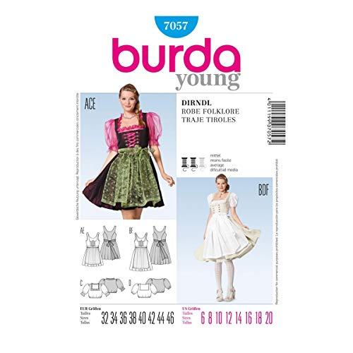 Burda Style Schnittmuster Dirndl mit Bluse