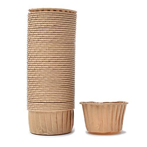 マフィンカップ (50枚セット) 【 マフィン型 カップケーキ型 】 ケーキ型 紙カップ 製菓用品 【SIMPS】 (ブラウン)
