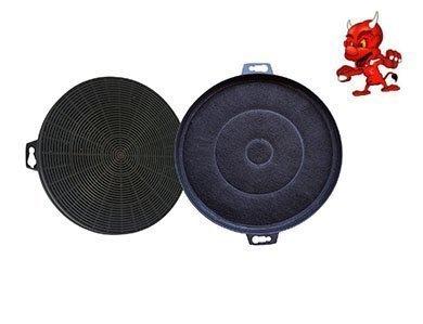Set 2 Actif Filtre Filtre à Charbon pour Hotte Aspirante Bosch DKE636BGB01