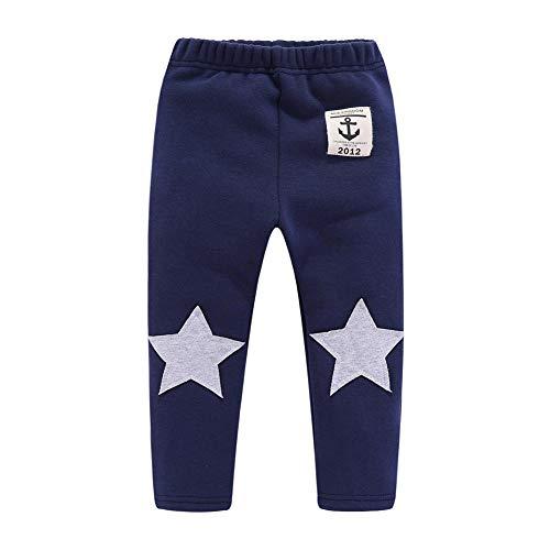 Calça de fleece Mud Kingdom para meninos com ajuste firme, Azul marinho, 18 Months