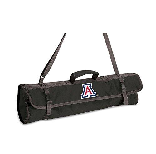 Picnic Time NCAA Arizona Wildcats 3-teiliges Grillwerkzeug-Set mit Tragetasche