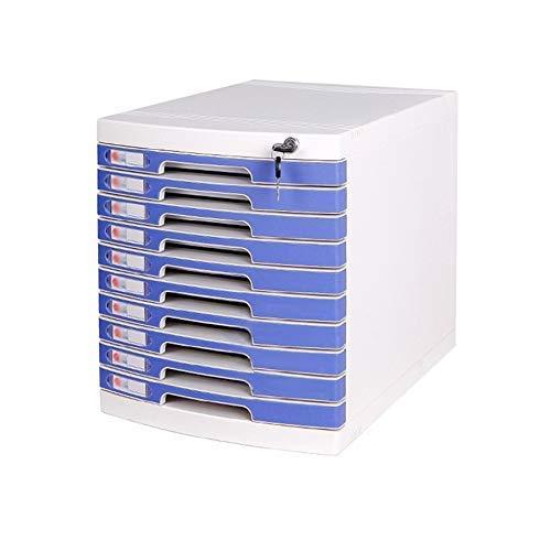 Lizanan - Organizador de cajones de escritorio de 10 capas con cierre para almacenamiento de datos, oficina y oficina, organizador de cajones (tamaño: 30 x 40 x 43 cm) (tamaño: 10 capas)