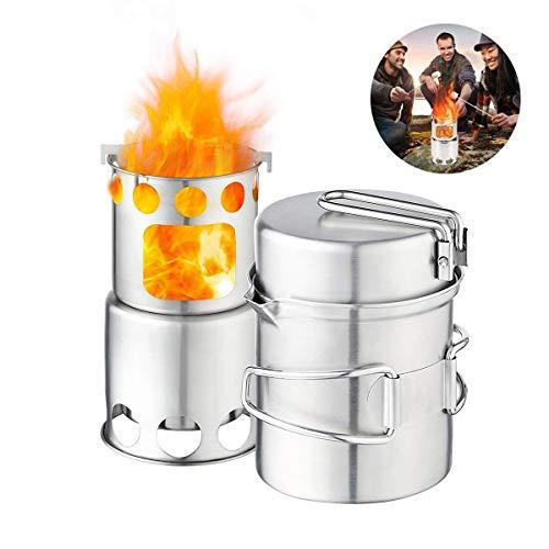 Jinxuny 304 Juego utensilios cocina acampar acero