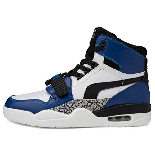Zapatillas de Deporte con amortiguación de Aire de Moda para Hombres Zapatillas de Baloncesto de Color Mixto con Cordones para Correr Zapatillas de Deporte Antideslizantes