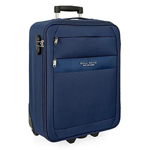 Roll Road Carter Maleta de cabina Azul 40x55x20 cms Blanda Poliéster Cierre combinación 40L 2,5Kgs 2 Ruedas Equipaje de Mano