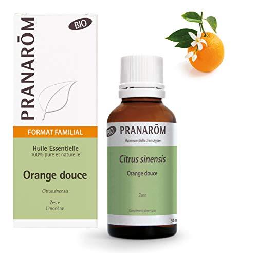 Pranarôm - Huile Essentielle d'Orange Douce Zeste Bio - Format Familial - 30 ml