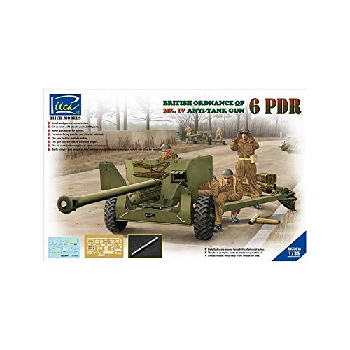 Riich Models rv35018 – Modélisme Jeu de Ordanance QF 6 PDR. MK. IV Late était Infant Anti Tank Gun