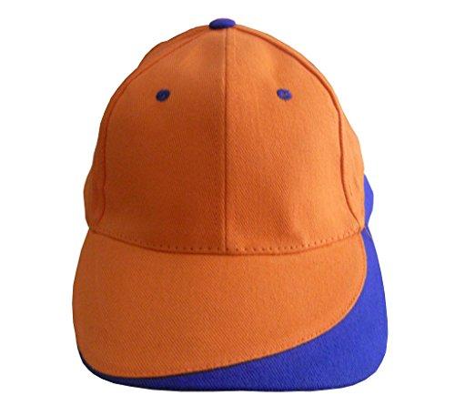 Kdomania - Casquette Orange et Bleue Avec Impression de vos Initiales Gratuites