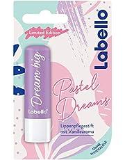 Labello Pastel Dreams Lippenverzorgingsstift (4,8 g), lippenverzorging met spannend vanillearoma voor natuurlijk mooie lippen, voedende lippenbalsem zonder minerale oliën
