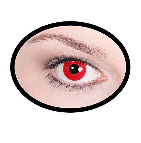Maskworld SMI416167(2) Kontaktlinsen/Tageslinsen, Unisex– Erwachsene, rot