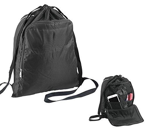 Semptec Urban Survival Technology Sportbeutel: 2in1-Turnbeutel-Rucksack mit aufklappbarem Organizer-Fach, 20 l (Gymbag)