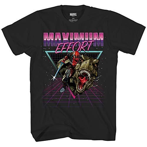 Marvel Deadpool Crazy Maximum Effort Officially Licensed Adult T Shirt (X-Large) Black